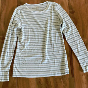 Tommy Bahama White Gray And Gold Striped